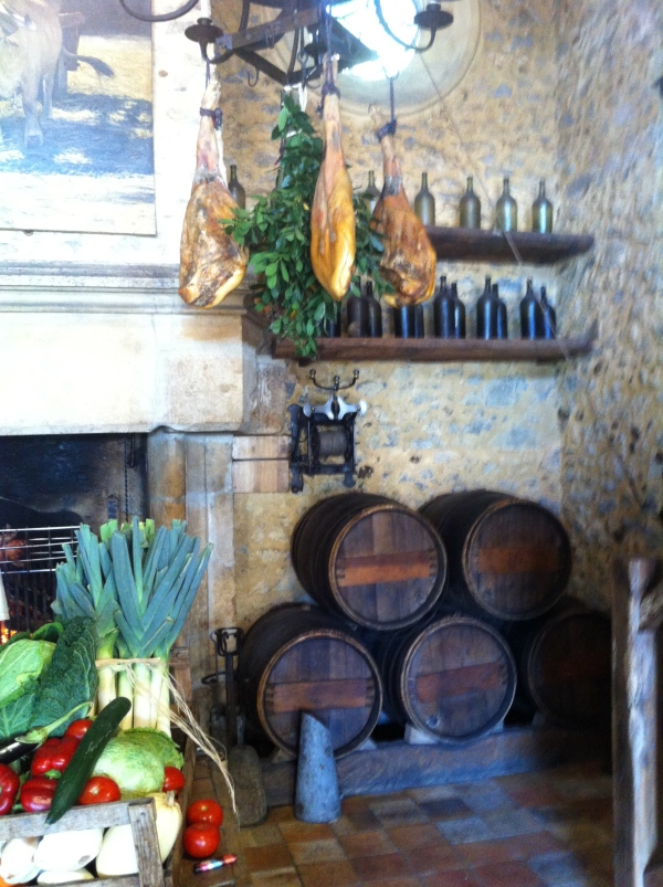 "Inside the ""la ferme aux grives"" restaurant"